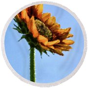 Reach For The Sun Round Beach Towel