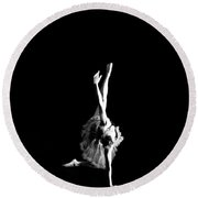 Reaching Ballerina Round Beach Towel