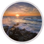 Reaching For The Sun Round Beach Towel