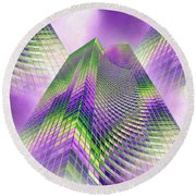 Reaching Skyward Round Beach Towel