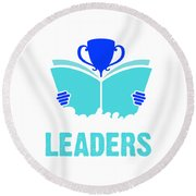 Readers Are Leaders Round Beach Towel