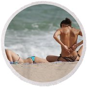 Reading And Bow Tie Round Beach Towel