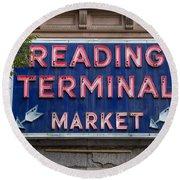 Reading Terminal Market Round Beach Towel