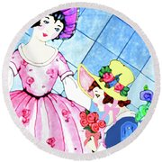 Ready For The Party Round Beach Towel