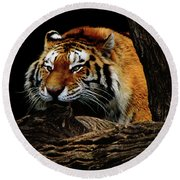 Ready Or Not Round Beach Towel