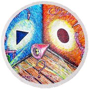 Ready?..../part Two/ Round Beach Towel