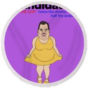 Real Candidates Of The Gop - Chris Christie - The Man-eater Round Beach Towel