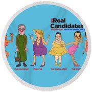 Real Candidates Of The Gop -clear Background Version 2 Round Beach Towel