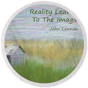 Reality Round Beach Towel