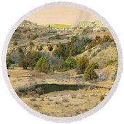 Realm Of Golden West Dakota Round Beach Towel