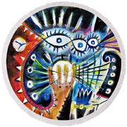 Realy Into It Round Beach Towel