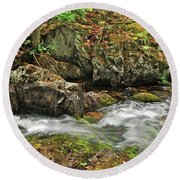 Reany Falls 4 Round Beach Towel