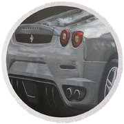 Rear Ferrari F430 Round Beach Towel