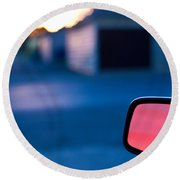 Rearview Mirror Round Beach Towel