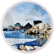 Reason To Believe Round Beach Towel