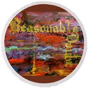 Reasonable Doubt Round Beach Towel
