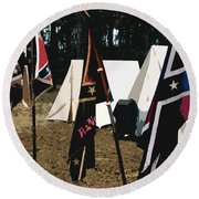 Rebel Camp Round Beach Towel