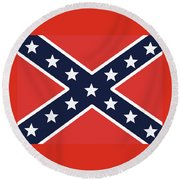 Rebel Flag Round Beach Towel
