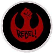 Rebel Round Beach Towel