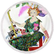 Rebel With A Cause Round Beach Towel