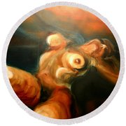 Reclining Nude Round Beach Towel