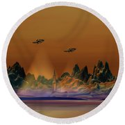 Recon Round Beach Towel by Corey Ford