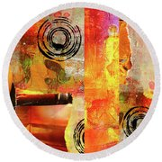 Reconstruction Abstract Round Beach Towel