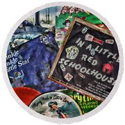 Records For Children Round Beach Towel