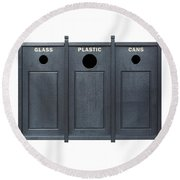 Recycle Bins For Glass Plastic Cans Round Beach Towel