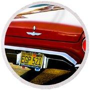 Red '57 T-brid Round Beach Towel