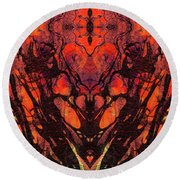 Red Abstract Art - Heart Matters - Sharon Cummings Round Beach Towel