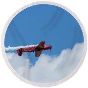 Red Aerobatic Airplane 22 Round Beach Towel
