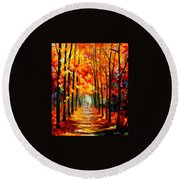 Red Alley Round Beach Towel