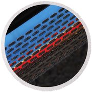 Red And Blue Shine Round Beach Towel
