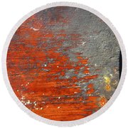 Red And Grey Abstract Round Beach Towel