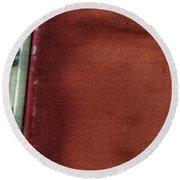 Red And White Stripe Round Beach Towel