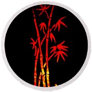 Red Bamboo Round Beach Towel