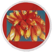 Red Bananas Of Jocotepec Round Beach Towel