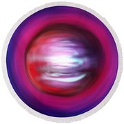 Red-black-white Planet. Twisted Time Round Beach Towel