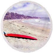 Red Board Round Beach Towel