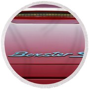 Red Boxster S Round Beach Towel