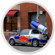 Red Bull Car Round Beach Towel