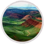 Red Canyon Round Beach Towel