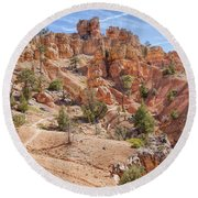 Red Canyon Trail Round Beach Towel