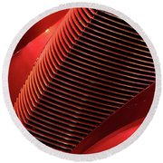 Red Classic Car Details Round Beach Towel