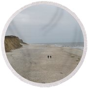 Red Cliff Kampen Sylt Round Beach Towel