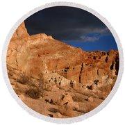 Red Cliffs Natural Preserve Round Beach Towel