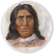 Red Cloud Round Beach Towel by Brandy Woods