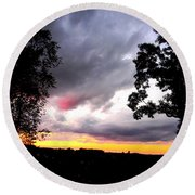 Red Cloud, Pittsburgh, Pa  Round Beach Towel
