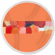 Red Combination Round Beach Towel